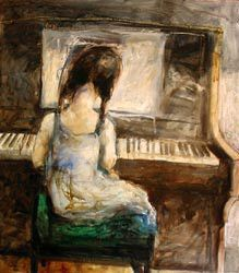 Girl-at-an-old-piano